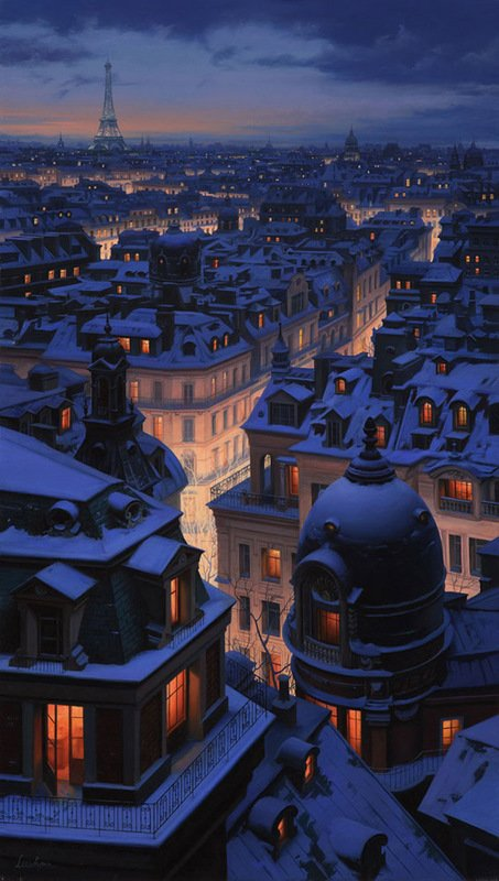 Lushpin over the roofs of paris